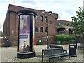 TL1998 : Street furniture near the Magistrates Court, Bridge Street, Peterborough by Robin Stott