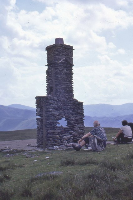 Remains of Lowther House chimney, Loadpot Hill 1968