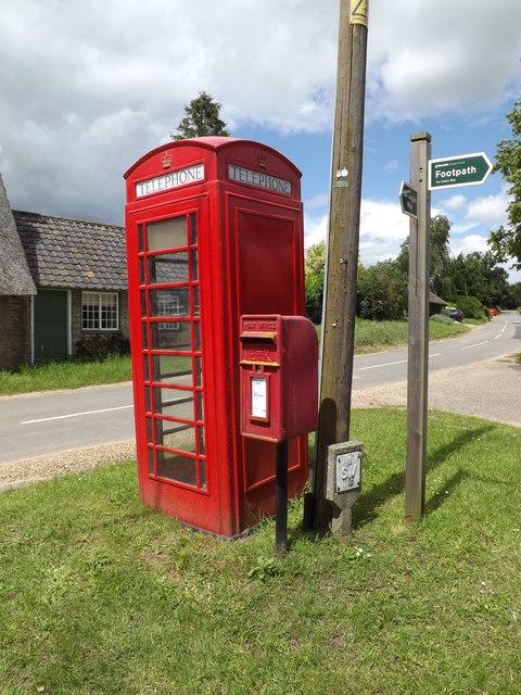 The Street Postbox & Telephone Box