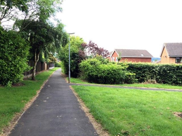 Westbury Park: path junction