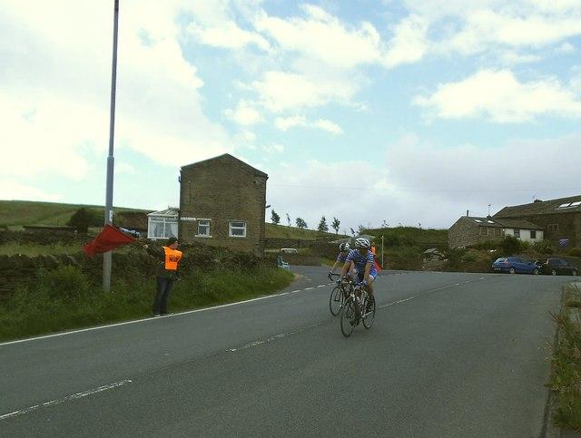 Downhill cyclists
