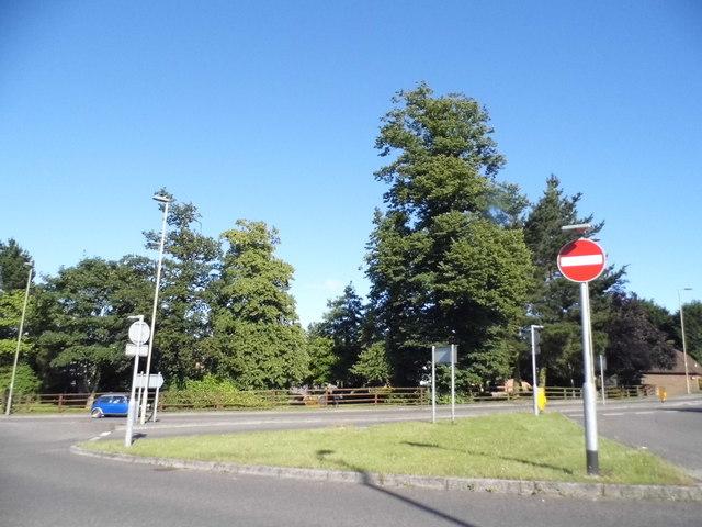 Roundabout on North Hill, Fareham