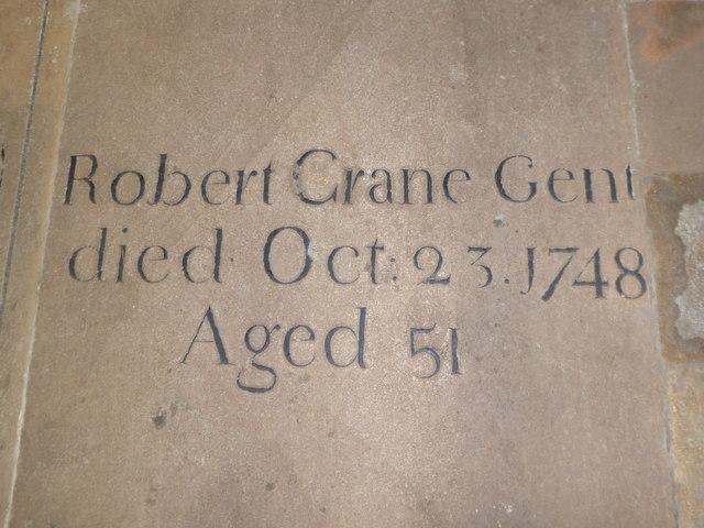 St Andrew, Ufford: memorial (G)
