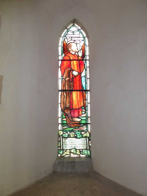 St Andrew, Ufford: stained glass window (II)