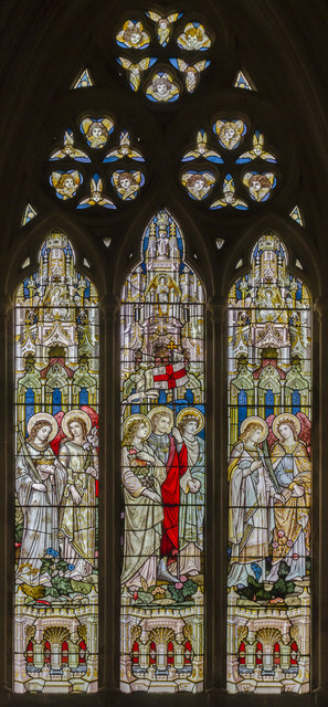 Stained glass window, St Michael and All Angels' church, Booton