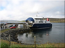 HU4563 : The Whalsay ferry, MV Linga, at Laxo by David Purchase