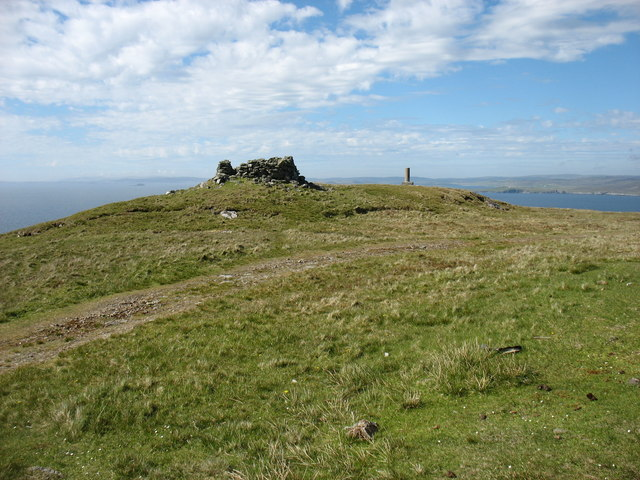 The summit of Ward of Clett, Whalsay