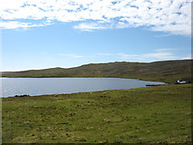 HU5562 : Loch of Huxter, Whalsay by David Purchase