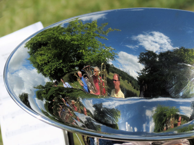 A Reflective View of the Brass Band in Tring Park