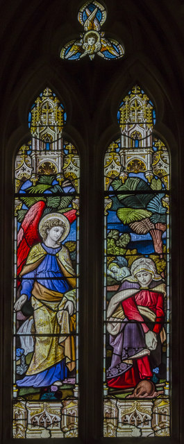 Chancel Stained glass window, St Michael and All Angels' church, Booton