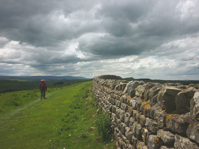 Heading along the Hadrian's Wall Trail