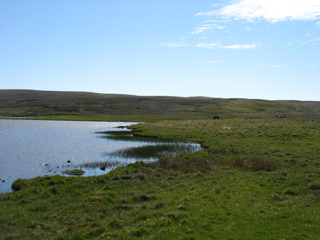 The west shore of Loch Vats-houll, Whalsay