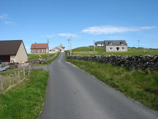 The road to Brough, Whalsay