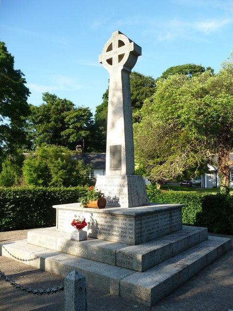 War memorial, Llandinam