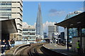 TQ3180 : The Shard seen from Waterloo East Station by N Chadwick