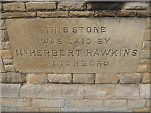 TF1409 : Deeping Gate Congregational Church: foundation stone (I) by Basher Eyre