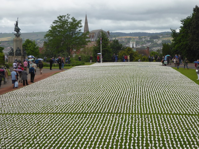 19240 Shrouds of the Somme, Northernhay Gardens, Exeter