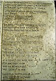 R7840 : Stone tablet on Sarsfield's Rock by Antony Dixon
