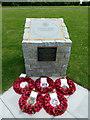 TV6299 : Nelson Carter VC memorial paving stone in Eastbourne Pavilion Gardens by PAUL FARMER