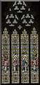 TG1222 : West window, St Michael and All Angels' church, Booton by Julian P Guffogg