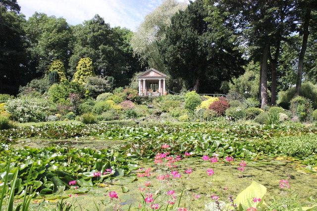 The garden at Bodrhyddan Hall