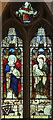 TQ1785 : St John the Evangelist, Wembley - Stained glass window by John Salmon
