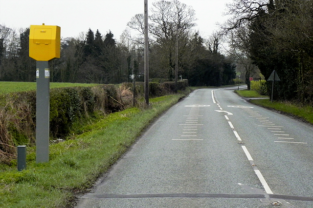 Speed Camera on the A49 near Spurstow