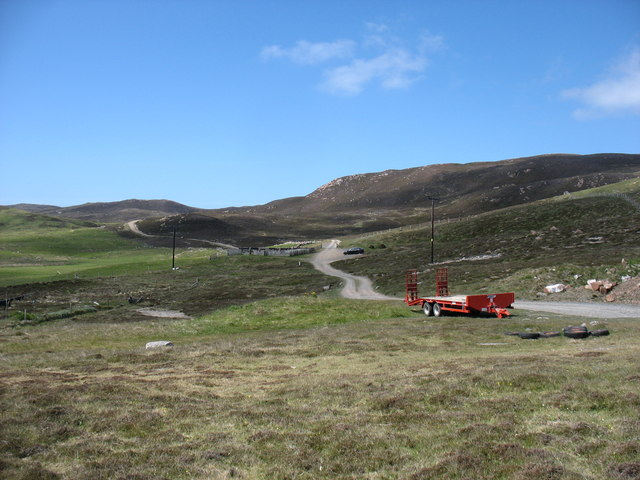 The track to Burki Waters, Muckle Roe