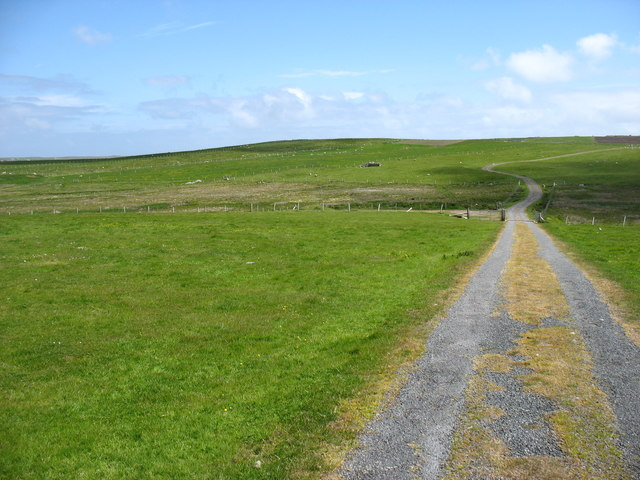The track from Fitful Head