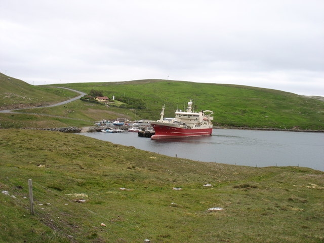 MV Altaire in Voe of the Brig