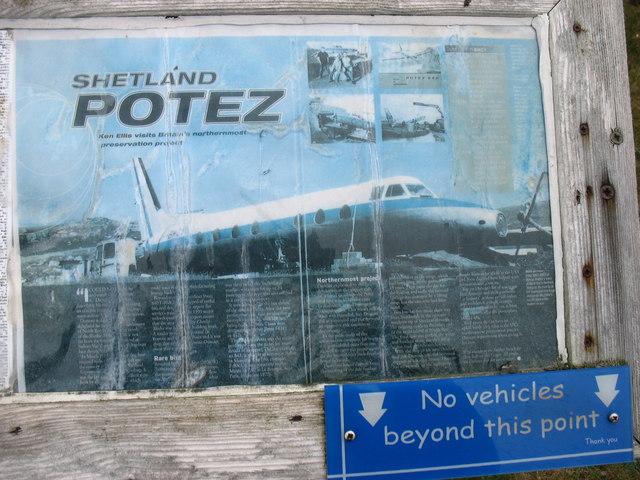 """The """"Shetland Potez"""" plaque"""