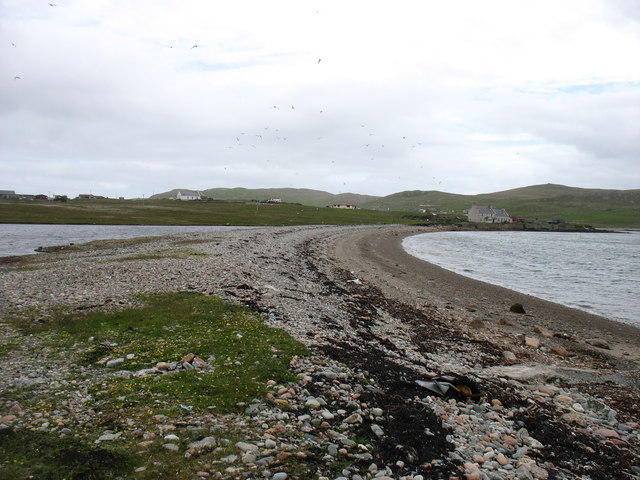 The spit at Burra Voe