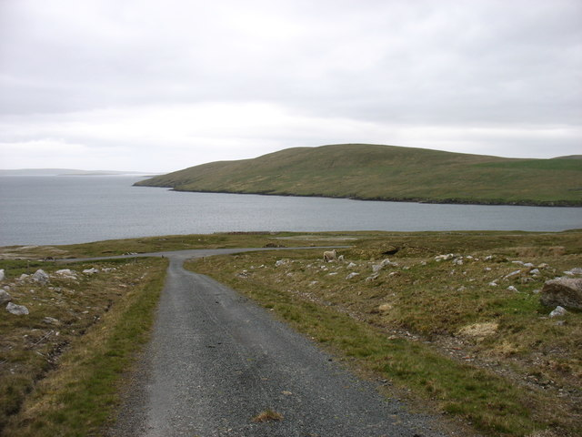 The track from Collafirth Hill