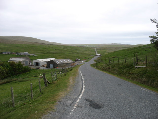 The A970 at South Collafirth