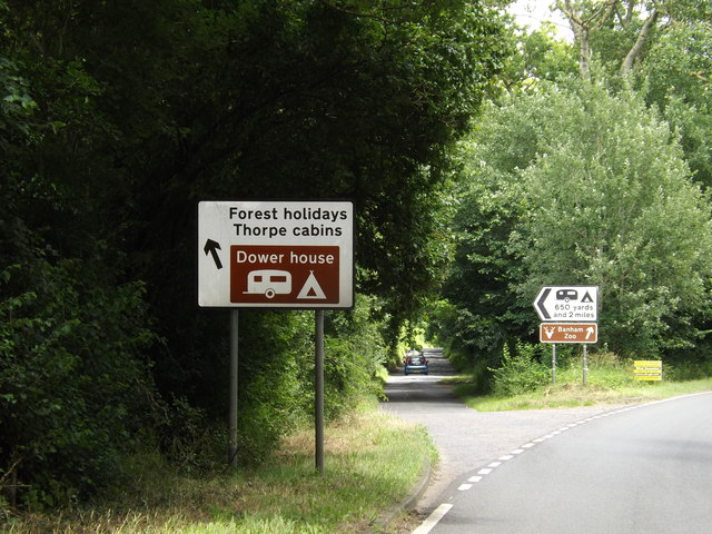 Roadsigns on the A1066 Thetford Road