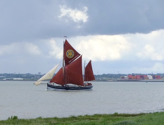 Stormy weather: sailing-barge 'Cambria' in the Lower Hope