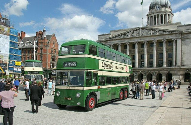 Trolleybus 506 in the Old Market Square � 1 by Alan Murray-Rust