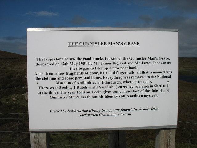 """""""Gunnister Man's Grave"""" - notice"""
