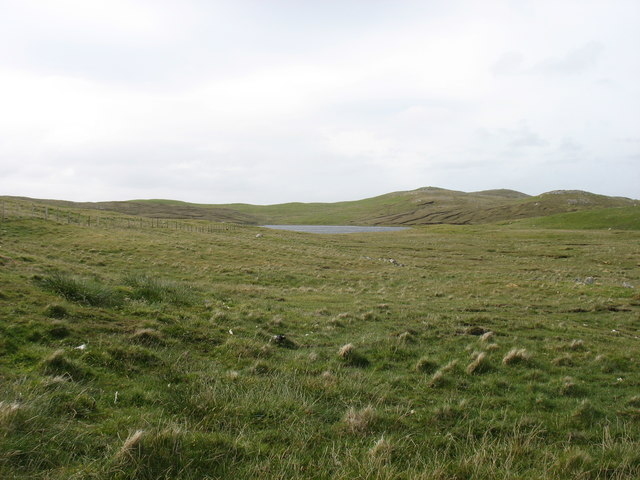 Stubba Water, and its surrounding low hills