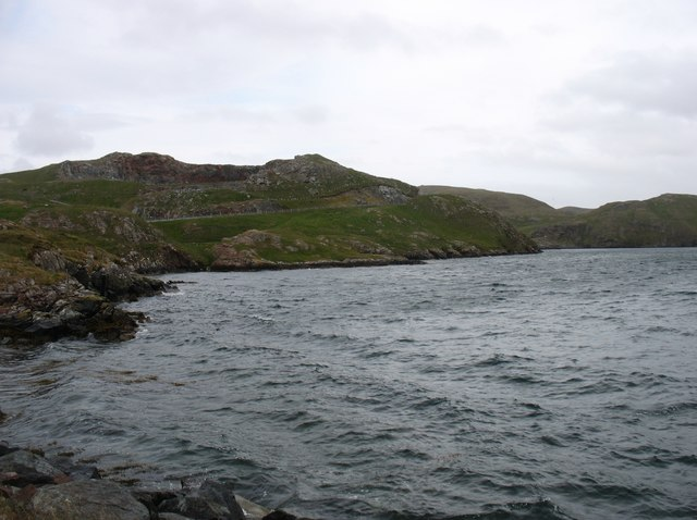 The shore of Sullom Voe at Mavis Grind