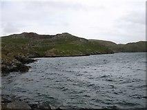 HU3468 : The shore of Sullom Voe at Mavis Grind by David Purchase