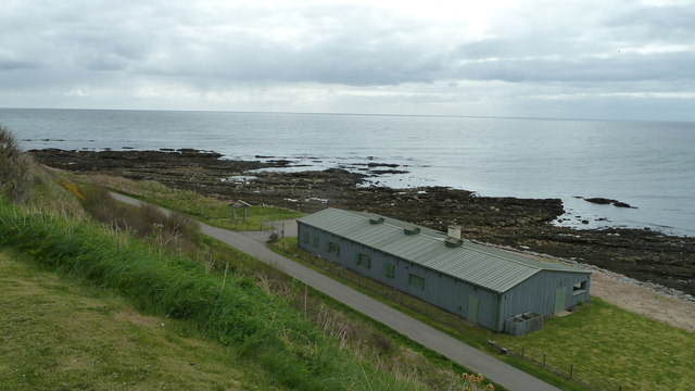 Industrial building near the shore, Helmsdale