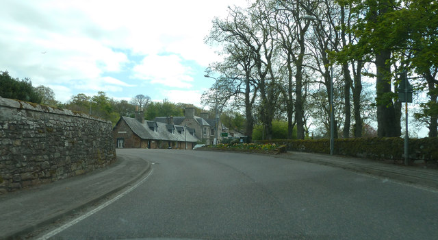 The A9 passing through Golspie