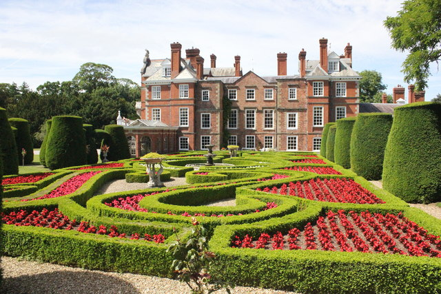 The Parterre at Bodrhyddan Hall