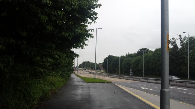 A580 near Old Clough Lane junction