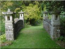 TR0660 : The Japanese bridge at Mount Ephraim Gardens by Marathon