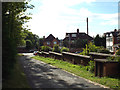 SP2865 : West down the former goods yard approach road, off Station Avenue, Warwick by Robin Stott