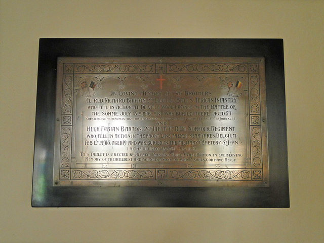 War Memorial to two brothers at Threxton