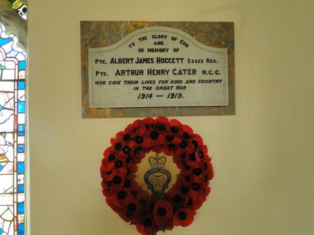 World War One Memorial at Threxton