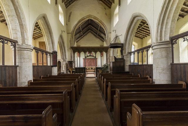 Interior, St Margaret's church, Burnham Norton